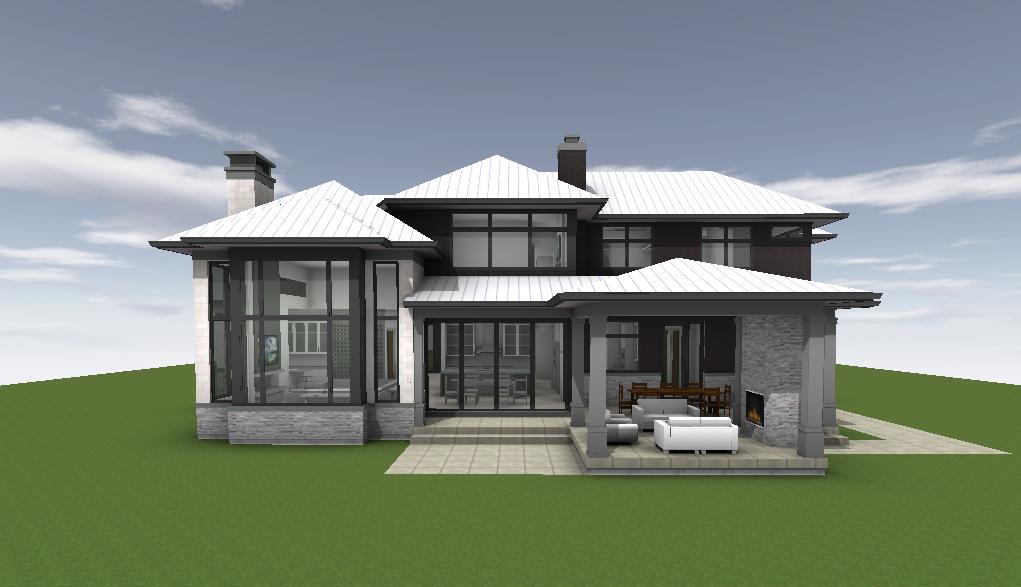 BIM rendering of custom home