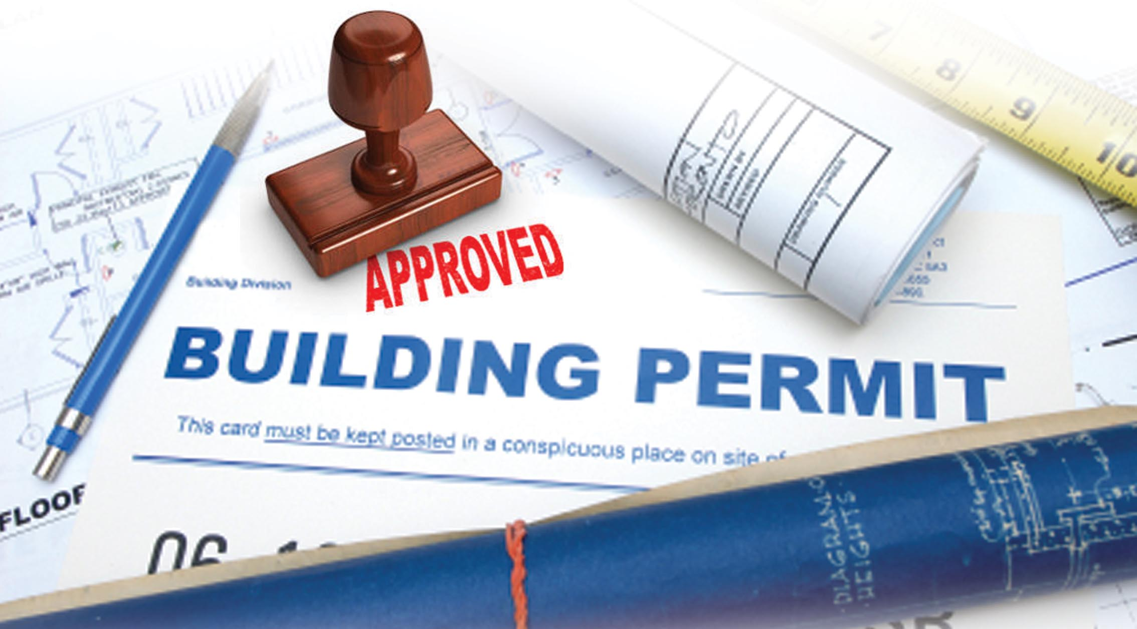 """Papers reading """"Approved Building Permit"""""""